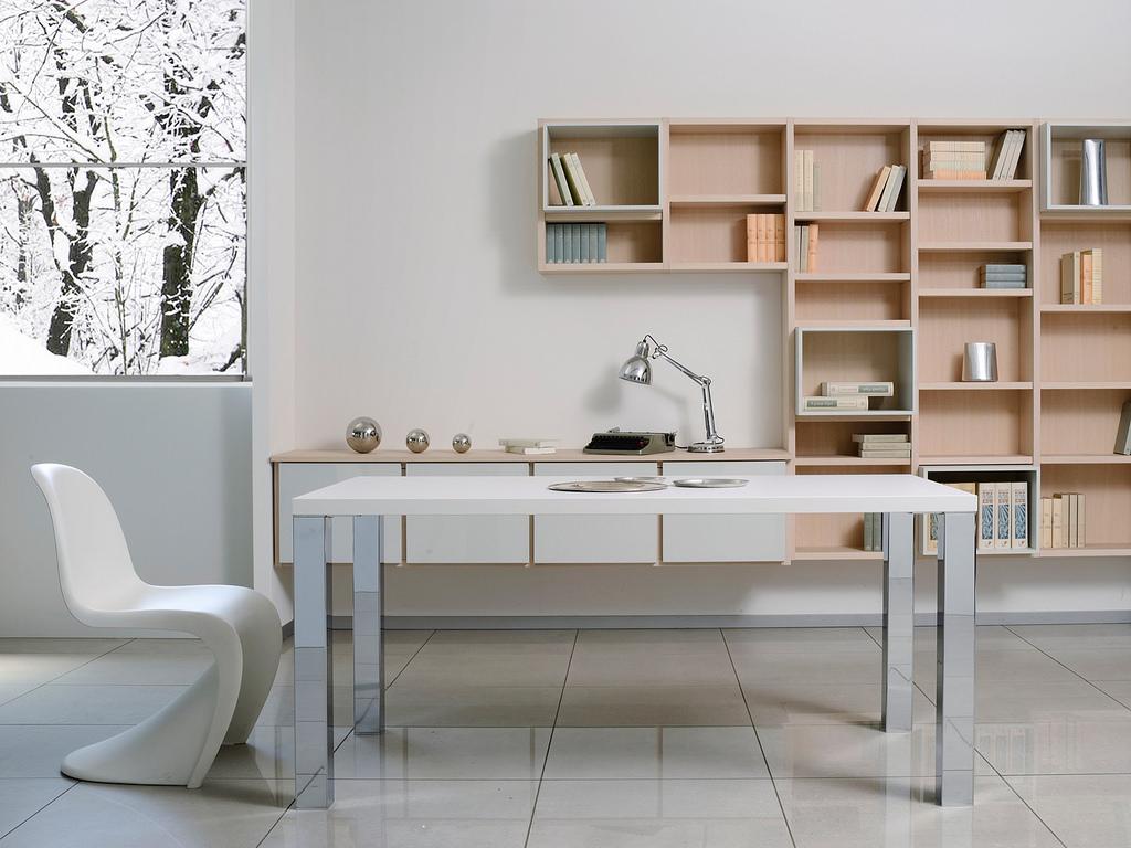 Angolo studio in soggiorno: funzionale e gradevole - Ocma ...